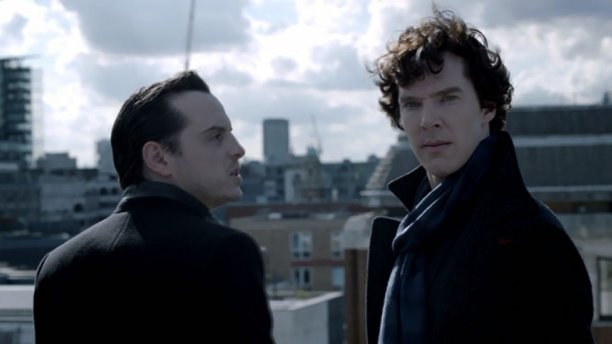 Andrew Scott and Benedict Cumberbatch in 'Sherlock' (Pic: BBC)