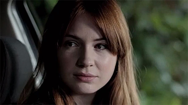 Karen Gillan in 'A Touch of Cloth' (Pic: Sky)