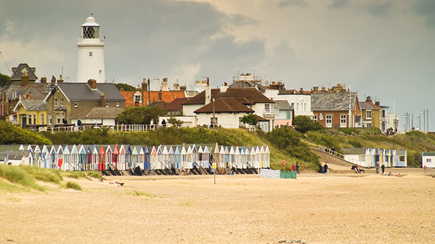 Detail of Southwold beach on a cloudy day (AP)