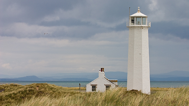 White Lighthouse in Nature Reserve on Walney Island (AP)