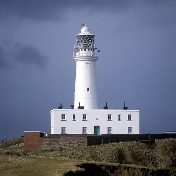 lighthouse, Flamborough Head, England, Great Britain (AP)