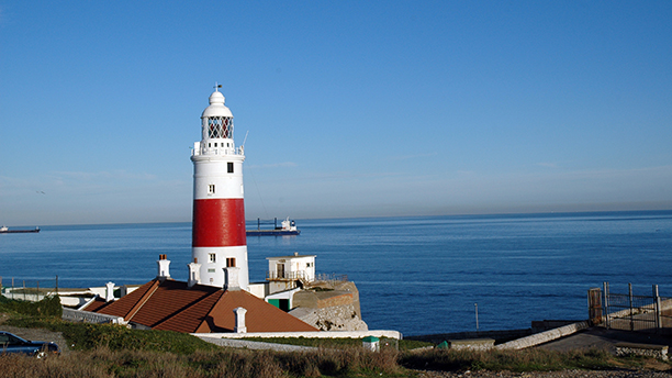 Lighthouse at most southern point of Europe on Gibraltar (AP)