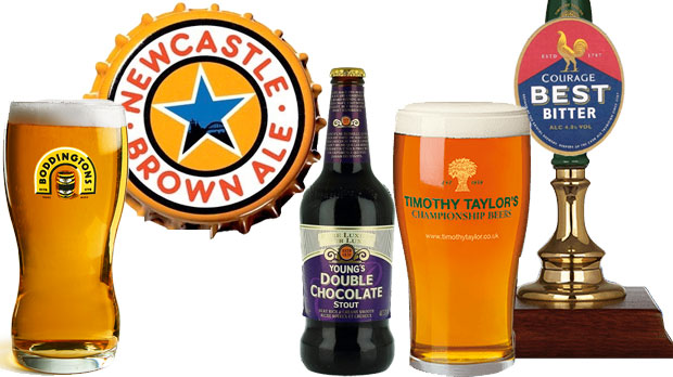 Some of the great ales of Britain.