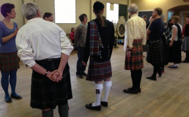 The ever-familiar sight of Scottish Country Dancers (Facebook)