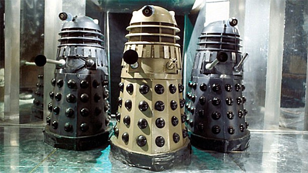 "The Daleks in ""Day of the Daleks"" (Pic: BBC)"