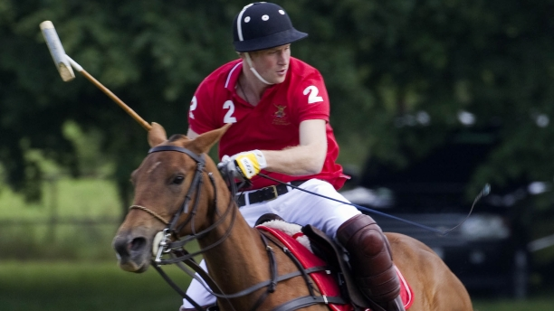 Prince Harry, a visitor to Tidworth Polo Club. (Rex Features/AP)