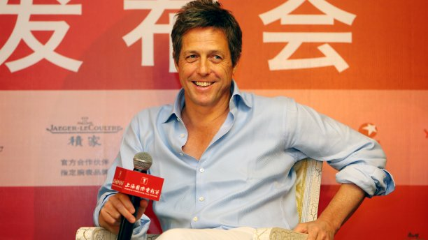 Hugh Grant discusses 'The Rewrite' at the 2014 Shanghai Film Festival (Imaginechina/AP)