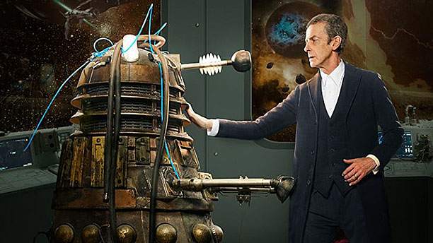 "Peter Capaldi as the Doctor in ""into the Dalek"""