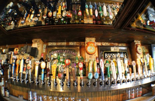An awful lot of beer. (Lynch's Irish Pub)