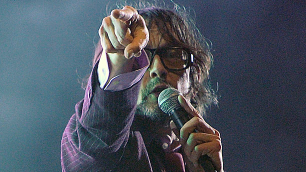 Jarvis Cocker, untroubled by daddles (Pic: AP Photo/Chris Pizzello)