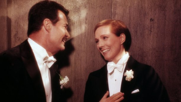 With James Garner in 1982's Victor Victoria. Again directed by Edwards, the film was a welcome critical and commercial hit after several disappointments in the 1970s, and earned Andrews a third Oscar nomination. (Rex Features/AP)