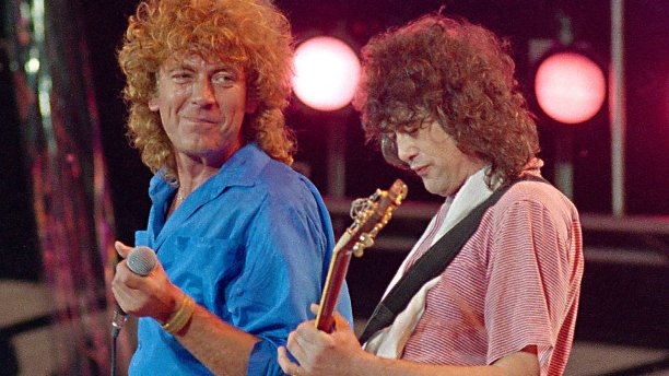 Robert Plant and Jimmy Page of Led Zeppelin (Pic: Amy Sanchetta/AP)