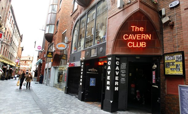 The Cavern Club, famous early home of the Beatles, closed in 1973 due to underground railway construction, but was reopened - using many of the original bricks - on the same street in 1984. (Peter Byrne/PA)