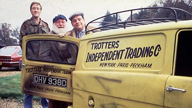 Nicholas Lyndhurst, Buster Merryfield and David Jason in 'Only Fools and Horses' (BBC)