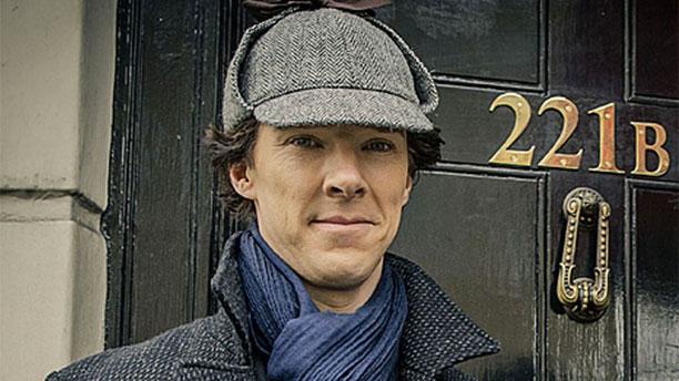 Benedict Cumberbatch and his 'Sherlock' deerstalker (Pic: BBC)