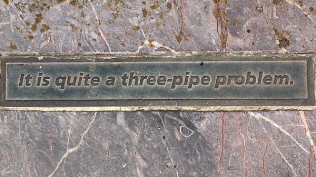 Dumford Street 'Sherlock Holmes' quotes, Plymouth, Devon