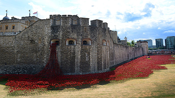 Poppies at the Tower of London (Pic: Nick Ansell/PA Wire via AP Images)