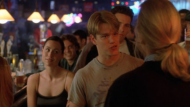 Minnie Driver and Matt Damon in 'Good Will Hunting' (Photo: Miramax)