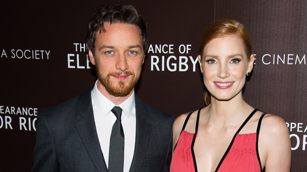 James McAvoy and Jessica Chastain at a special screening of 'The Disappearance of Eleanor Rigby' (Photo: Charles Sykes/Invision/AP)