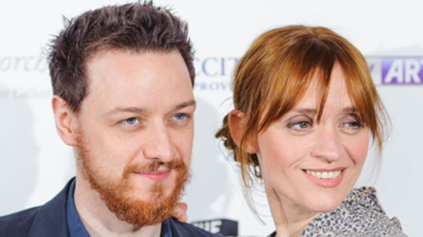 James McAvoy and Anne-Marie Duff at the Sky Arts South Bank Awards. (Dominic Lipinski/PA Wire)