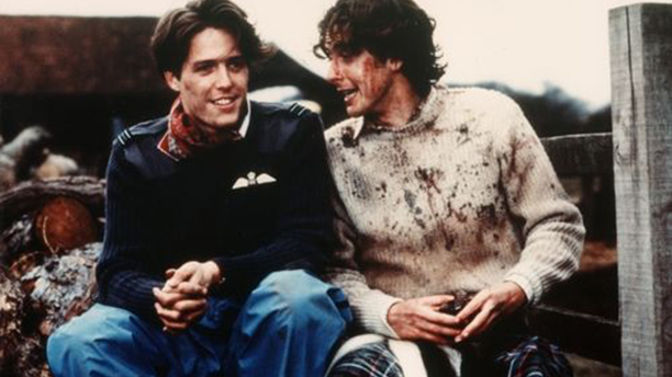 Peter Capaldi dons a kilt in The Lair of the White Worm opposite Hugh Grant. (The Lair)