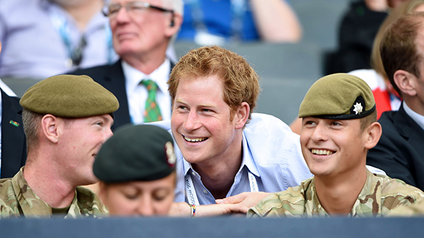 Prince Harry watching the athletics at Hampden Park 20th Commonwealth Games, Glasgow, Scotland, Britain - 29 Jul 2014  (Rex Features via AP Images)