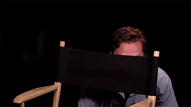 Benedict Cumberbatch hiding (Pic: Dreamworks TV)