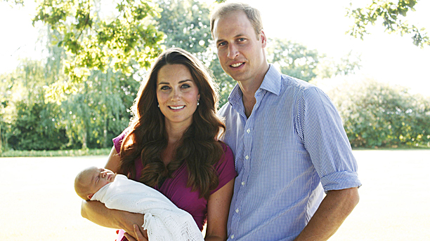 TRH the Duke and Duchess of Cambridge and Prince George (Pic: Michael Middleton/PA Wire)