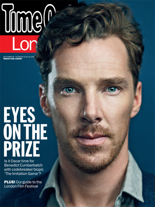 Benedict Cumberbatch on the cover of 'Time Out' (Pic: Time Out)