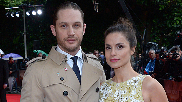 Tom Hardy and Charlotte Riley (Pic: Jon Furniss/Invision/AP)