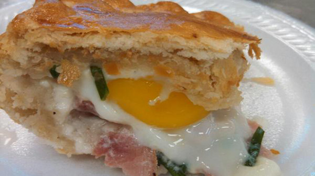 Ham, egg, and chive pie at Pie Society. (Twitter)