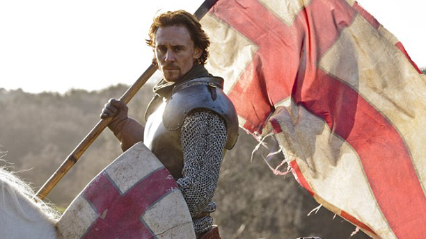 Hiddleston flies the flag for England. (BBC)