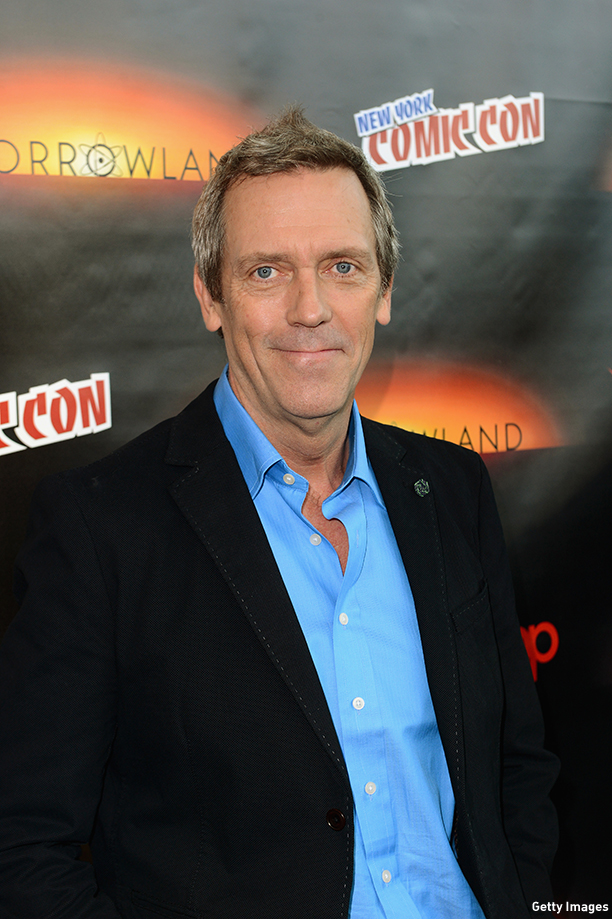 "NEW YORK, NY - OCTOBER 09:  Actor Hugh Laurie attends Walt Disney Studios' 2014 New York Comic Con presentations of ""Big Hero 6"" and ""Tomorrowland"" at the Javits Convention Center on Thursday October 9, 2014 in New York City.  (Photo by Stephen Lovekin/Getty Images for Disney)"