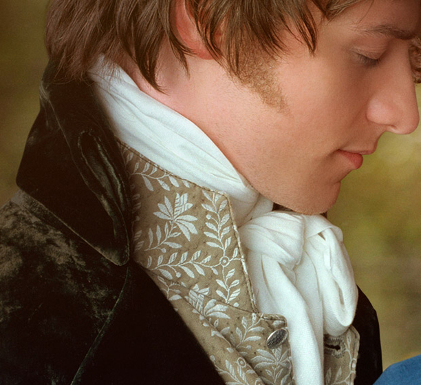 No need to speak, your cravat says it all. Here's James McAvoy in Becoming Jane. (UK Film Council)
