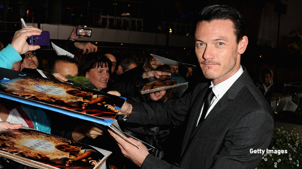 "LOS ANGELES, CA - NOVEMBER 07: Actor Luke Evans arrives at Relativity Media's ""Immortals"" premiere presented in RealD 3 at Nokia Theatre L.A. Live on November 7, 2011 in Los Angeles, California.  (Photo by Jason Merritt/Getty Images for Relativity Media)"