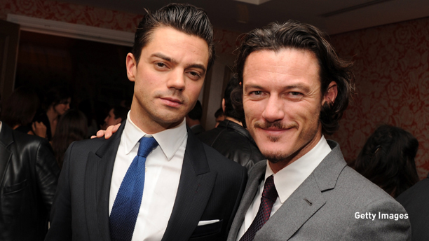 "NEW YORK - SEPTEMBER 27:  Actors Dominic Cooper and Luke Evans attend The Cinema Society & Altoids screening of ""Tamara Drewe"" at the Crosby Street Hotel on September 27, 2010 in New York City.  (Photo by Stephen Lovekin/Getty Images) *** Local Caption *** Luke Evans;Dominic Cooper"