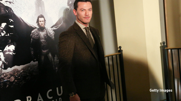 "NEW YORK, NY - OCTOBER 06:  Luke Evans attends ""Dracula Untold"" New York Premiere at AMC Loews 34th Street 14 theater on October 6, 2014 in New York City.  (Photo by Rob Kim/Getty Images)"