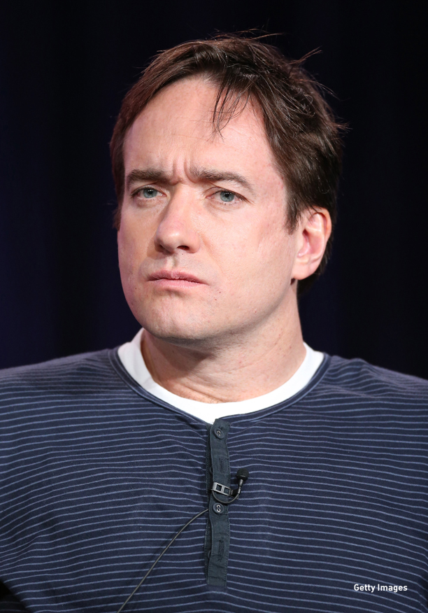 "PASADENA, CA - JANUARY 05:  Actor Matthew Macfadyen speak onstage at the ""Ripper Street"" panel discussion during the BBC America portion of the 2013 Winter TCA Tour- Day 2 at Langham Hotel on January 5, 2013 in Pasadena, California.  (Photo by Frederick M. Brown/Getty Images)"