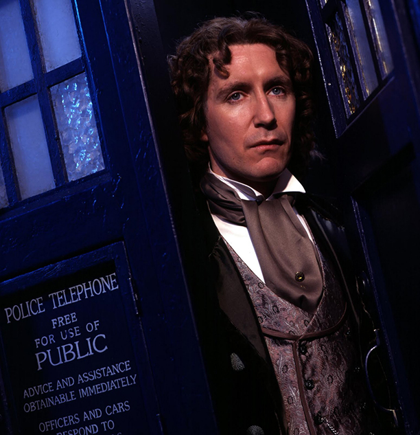 Doctor Who's Paul McGann wears a cravat, cravats are cool. (BBC)