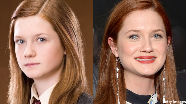 Bonnie Wright as Ginny Weasley, and herself.