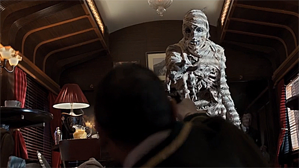 The Mummy in 'Mummy on the Orient Express' (Pic: BBC)