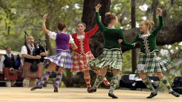 Highland dancing at Savannah's Highland Games. (Stay in Savannah)