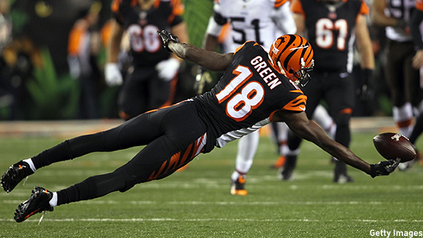 A.J. Green of the Cincinnati Bengals. (Photo: John Grieshop/Getty Images)