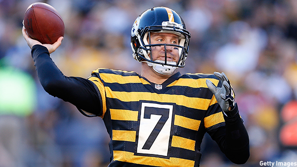 Ben Roethlisberger of the Pittsburgh Steelers. (Photo: Joe Robbins/Getty Images)
