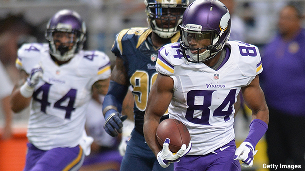 Cordarrelle Patterson of the Minnesota Vikings. (Photo: Michael B. Thomas/Getty Images)