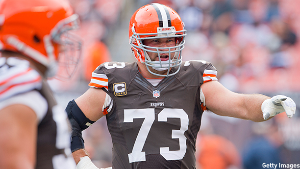 Joe Thomas of the Cleveland Browns. (Photo: Jason Miller/Getty Images)