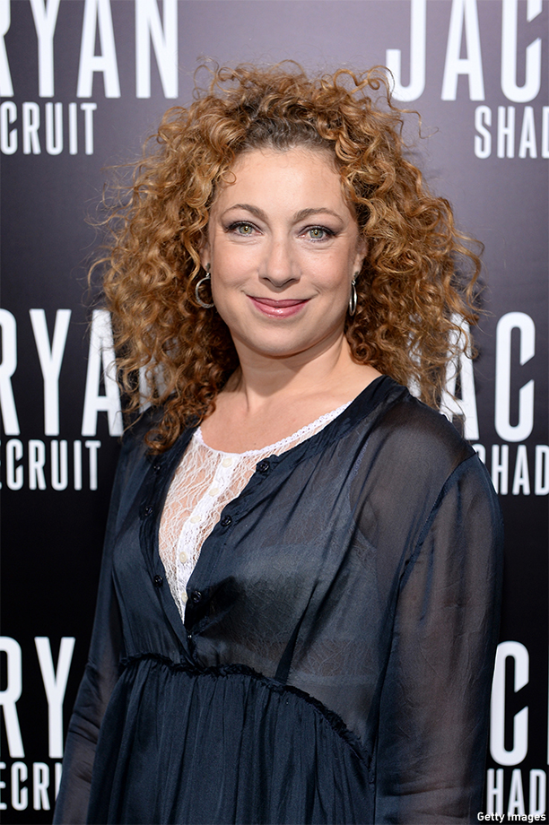 "HOLLYWOOD, CA - JANUARY 15:  Actress Alex Kingston attends the premiere of Paramount Pictures' ""Jack Ryan: Shadow Recruit"" at TCL Chinese Theatre on January 15, 2014 in Hollywood, California.  (Photo by Dimitrios Kambouris/Getty Images)"