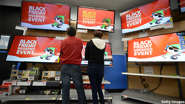 Black Friday is serious business. (ROBYN BECK/AFP/Getty Images)