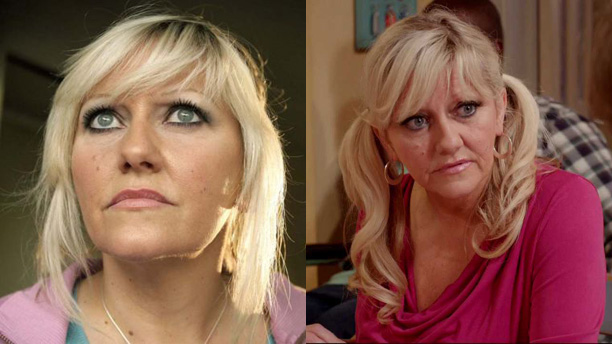 Camille Coduri as Jackie Tyler in 'Doctor Who' and Judy in 'Edge of Heaven'