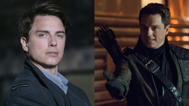 John Barrowman as Captain Jack Harkness in 'Doctor Who' and as Malcolm Merlyn in 'Arrow'